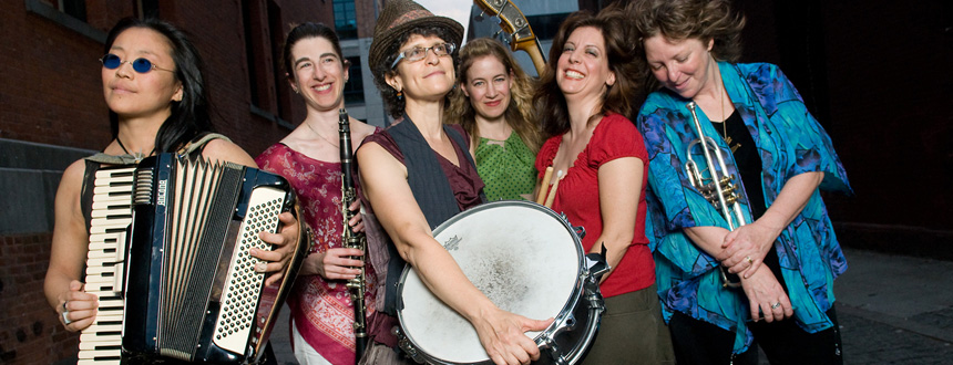 Isle of Klezbos: soulful, fun-loving powerhouse all-women's klezmer sextet