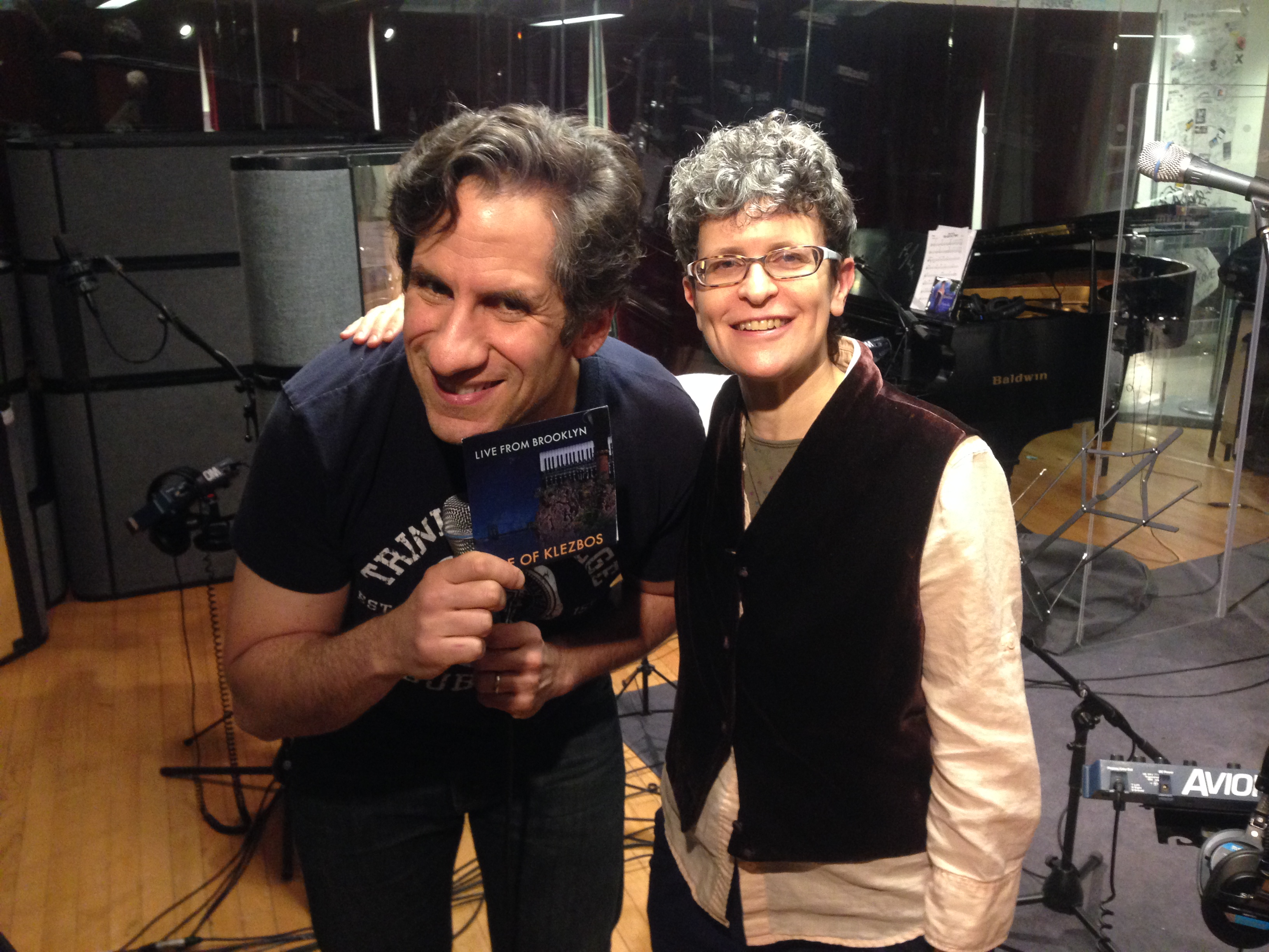 Seth Rudetsky and Eve Sicular in the studio of SETH SPEAKS!